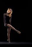 专业芭蕾女性舞蹈家 库存图片