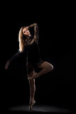 专业芭蕾女性舞蹈家 库存照片