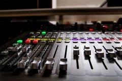 专业音乐搅拌器演播室 库存照片