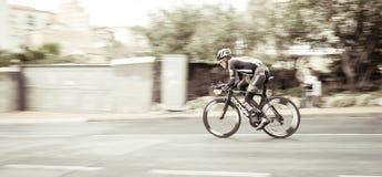 专业骑自行车者 库存照片