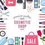 专业质量化妆用品商店 向量 免版税图库摄影