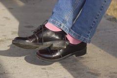 专利皮鞋 库存图片
