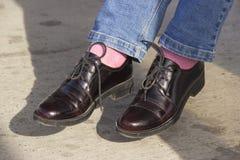 专利皮鞋 免版税库存照片