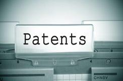 专利记数器文件夹 免版税库存图片