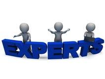 专家词显示专门技术和顾问 向量例证