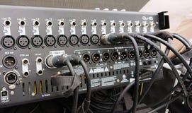 专家16渠道音频搅拌器 库存照片