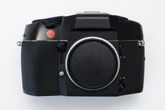 专家35mm影片SLR与红色小点的照相机机身 免版税图库摄影