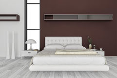 专属设计卧室|3d内部建筑学 免版税图库摄影