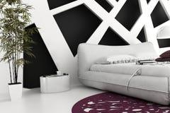 专属设计卧室 3d内部建筑学 库存图片
