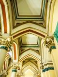 专栏和天花板在历史建筑,里士满 免版税库存图片