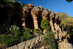 专栏在公园Guell在巴塞罗那,西班牙 免版税图库摄影