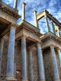 专栏在罗马剧院在梅里达 免版税库存图片