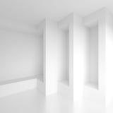 专栏室内设计 白色现代背景 创造性 免版税图库摄影