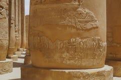专栏象形文字卡纳克神庙寺庙 免版税库存照片