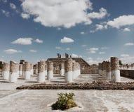 专栏 图拉de亚伦得,墨西哥古老废墟  免版税库存照片