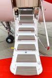 专用喷气机的梯子 免版税图库摄影