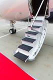 专用喷气机的梯子 库存照片
