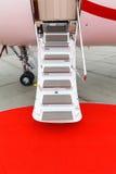 专用喷气机的梯子 图库摄影