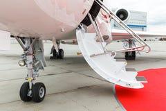 专用喷气机的梯子 免版税库存图片