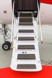 专用喷气机的梯子 库存图片