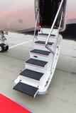 专用喷气机的梯子 免版税库存照片