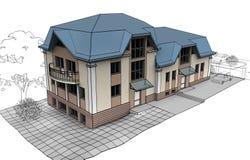 专用的房子 免版税图库摄影