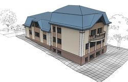 专用的房子 免版税库存图片