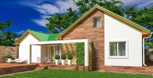 专用的房子 免版税库存照片