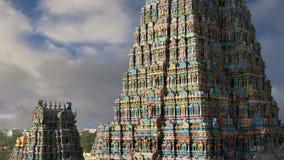 专用的gopura印度印度马杜赖阁下meenakshi nadu耸立的其他一个雕塑南sundareswarar泰米尔人寺庙孪生 影视素材