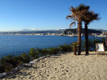 专用结构的海滩 图库摄影