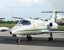 专用聘用的喷气机准备 免版税库存照片