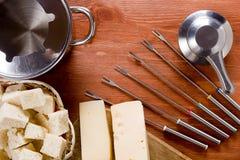 专辑套涮制菜肴的器物 图库摄影