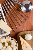专辑套涮制菜肴的器物 免版税库存照片