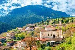 世外桃源的Valtessiniko村庄,伯罗奔尼撒,希腊 库存图片