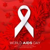 世界中止援助在红色origami背景的天 偏差 库存照片
