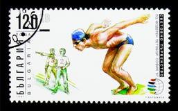 世界五项运动冠军,索非亚1997年,体育serie,大约19 免版税图库摄影