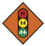 世界人口统计学。 红绿灯 皇族释放例证
