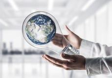 世界保护概念的创新 库存照片