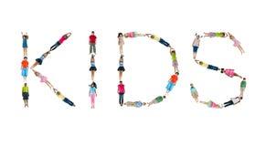 世界儿童字母表执行孩子 图库摄影