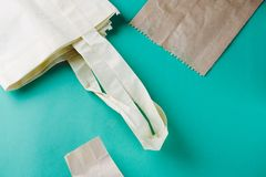 世界免于塑料 零的废概念 免版税库存照片