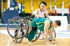 世界半轮椅篮球冠军决赛 库存图片