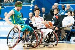 世界半轮椅篮球冠军决赛 免版税库存照片