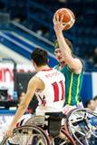 世界半轮椅篮球冠军决赛 免版税图库摄影