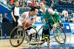 世界半轮椅篮球冠军决赛 免版税库存图片