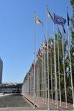 从1998年世界博览会的旗子在里斯本,葡萄牙 免版税库存照片