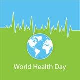 世界卫生日的传染媒介例证 免版税库存图片