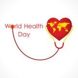 世界卫生日设计 免版税库存照片