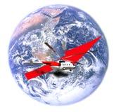 世界各地开始飞行的直升机 免版税图库摄影