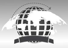 世界各地飞行的飞机 库存图片