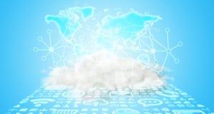 世界和云彩连接 免版税库存照片
